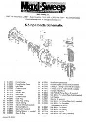 5.5 hp Honda Schematic